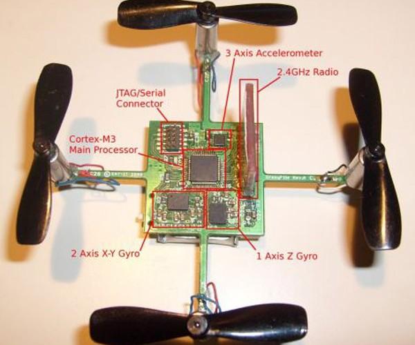 CrazyFlie: Tiny Barebones Quadrocopter Weighs Less than an Ounce