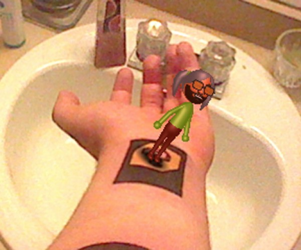 3DS Augmented Reality Tattoo: Forever on His Forearm
