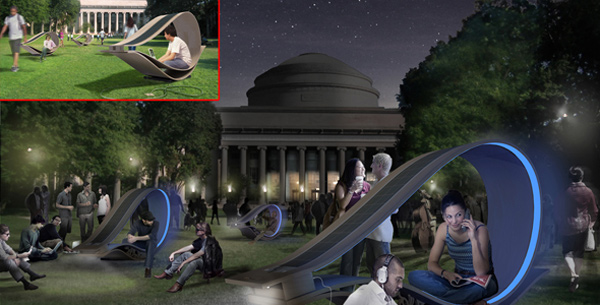 solar powered lounge chairs you chill while your gadgets recharge