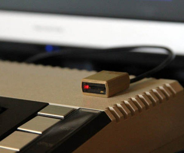 3D Printed MicroSD Reader Poses as Micro Atari 810 Floppy Drive
