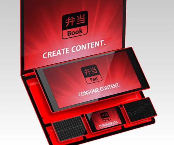 Bento Book Laptop + Tablet + Smartphone = Modular Transformer Computer