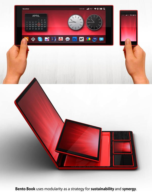 bento book dock concept tablet smartphone rene woo-ram lee