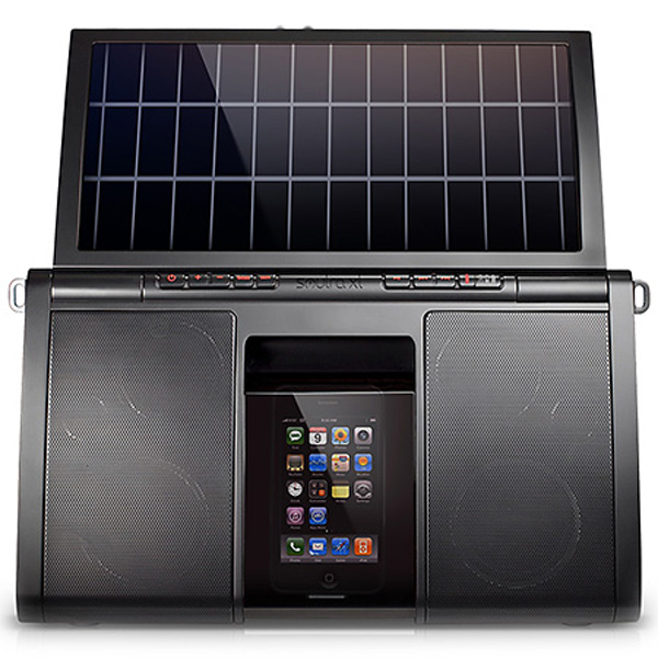eton soulra xl dock iphone ipod solar-power speaker