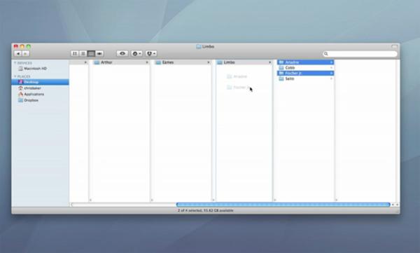 osx inception folder finder chris baker video