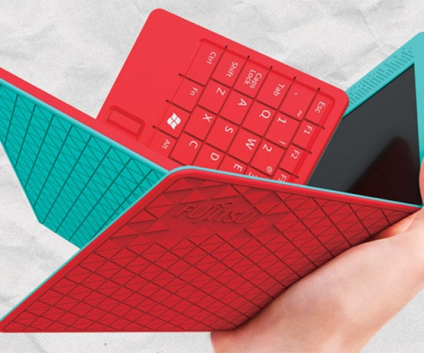 Fujitsu Flexbook Concept: Folding Tablet/Netbook Fits in Your Pocket