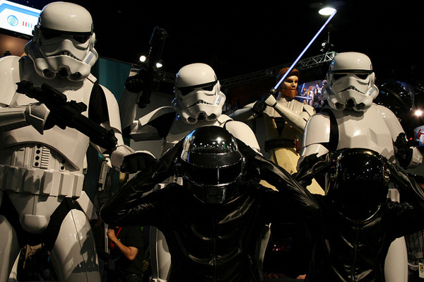 daft punk star wars stormtroopers empire arresting music daftweb