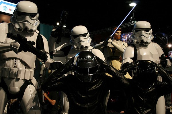 daft punk star wars stormtroopers empire arresting music daftweb