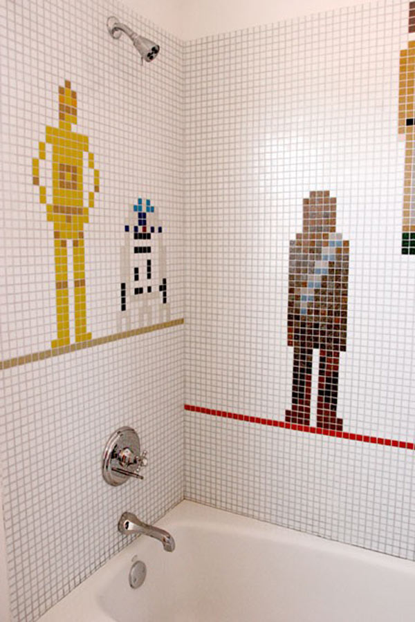 Beau Star Wars Mosaic Bathroom Tile Retro Cool