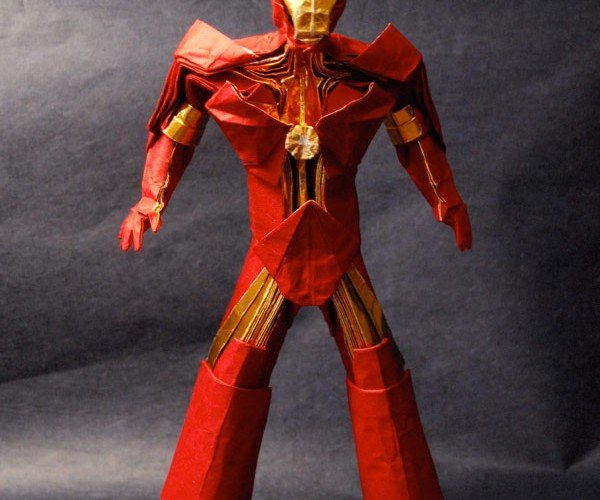 Iron Man Origami Defeats Whiplash with Paper Cuts