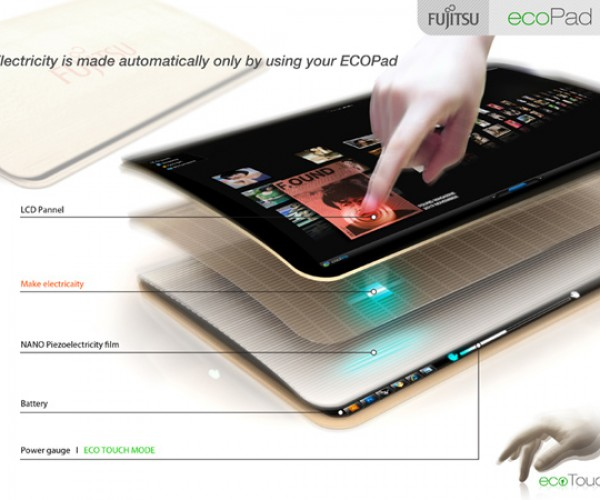 Ecopad Tablet Concept: Let Your Fingers Do the Charging