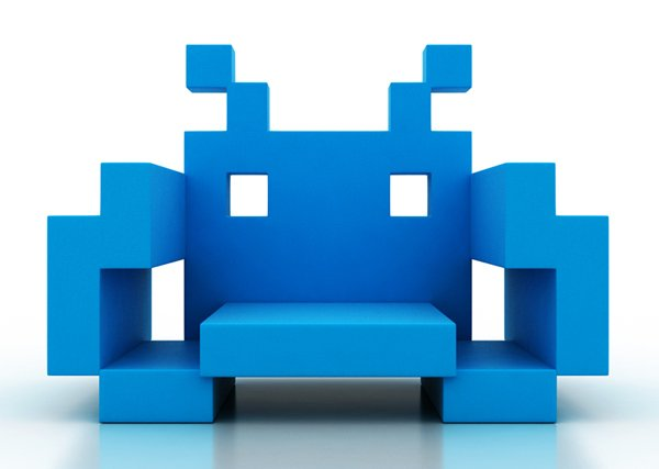 space invaders chair dorothy retro video game classic prototype