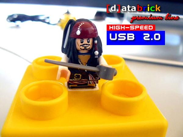 jack sparrow pirates usb lego minifig flash drive
