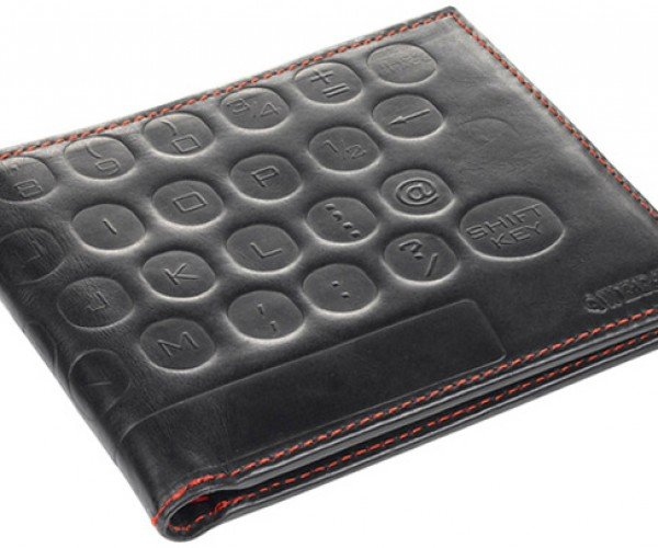 Leather QWERTY Wallet Doesn't Type, But It Should