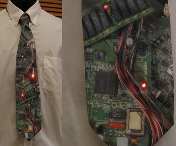 Englighted Design's Circuit Board LED Tie Takes It Up a Notch