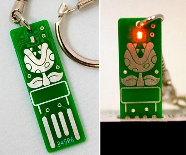 Piranha Plant Circuit Board Keychain: For Your Key-sa-Mario