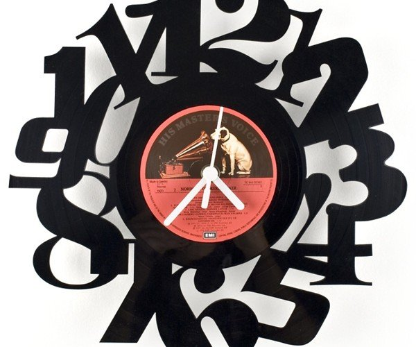 Vinyl Numbers Clock: Go Ahead and Put Your Records on the Wall