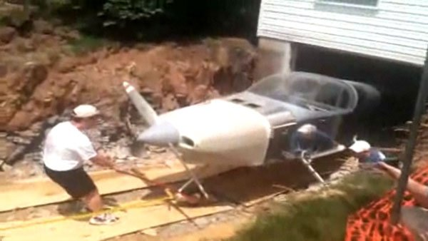 Dude Builds Airplane In Basement Tears House Apart To Get