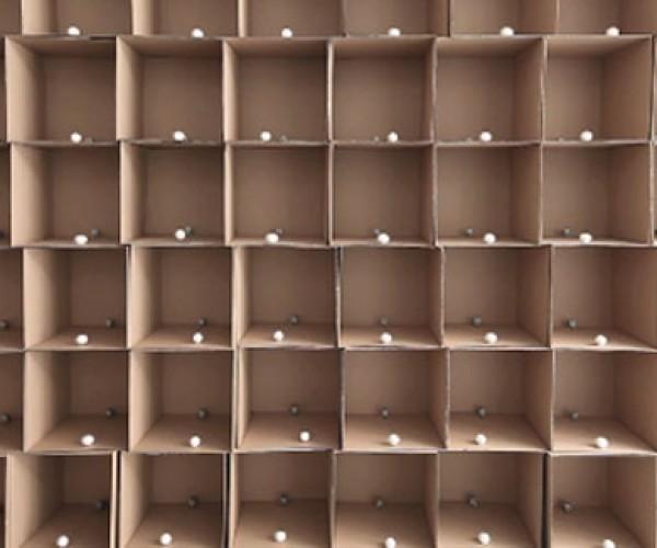 Cardboard Boxes + Cotton Balls+ DC Motors = Art?