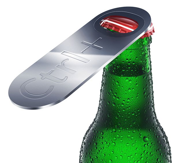 ctrl o bottle opener by art lebedev