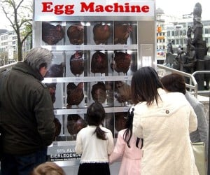 Egg Machine Puts Live Chickens in Vending Machine