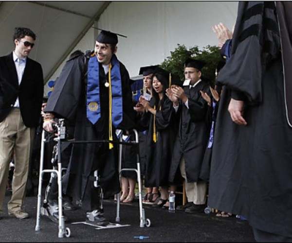 Exoskeleton Allows Paralyzed Berkeley Grad to Walk Across Stage