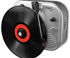 Put Your Records on Your Wall with the Vertical Vinyl Record Player