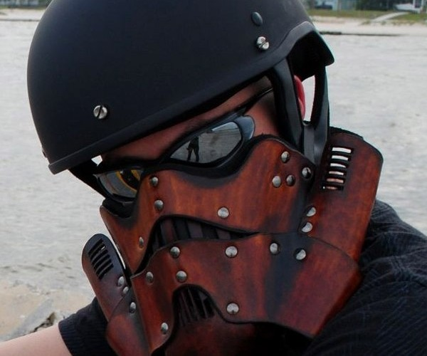 Stormtrooper Leather Motorcycle Mask: Not the Helmet You're Looking For