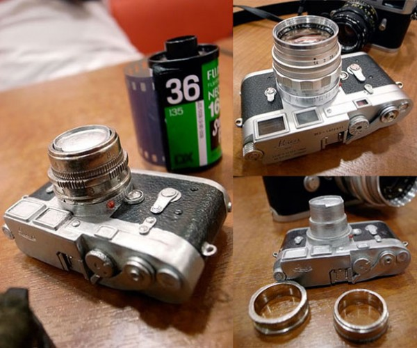 Photographer Wedding Rings Resemble Leica Camera Parts