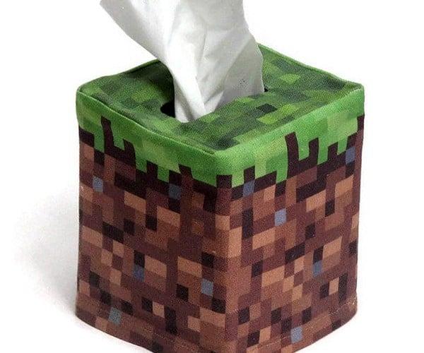 Minecraft Tissue Box Covers Pixelate Your Kleenex