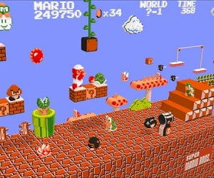 NES Games Rendered in 3D: from Pixel to Voxel