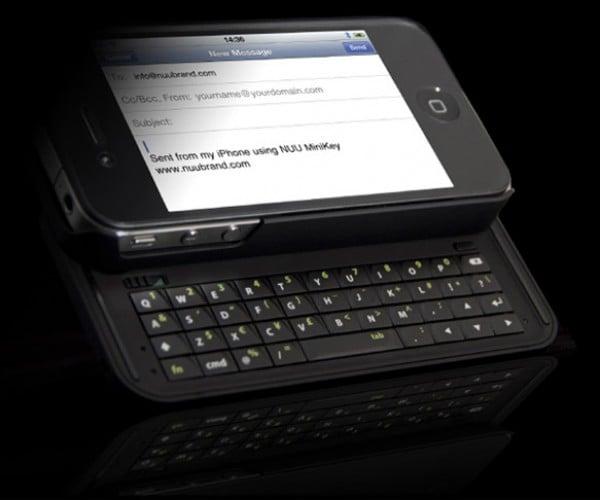 NUU MiniKey Gives iPhone 4 a Decent Looking Keyboard
