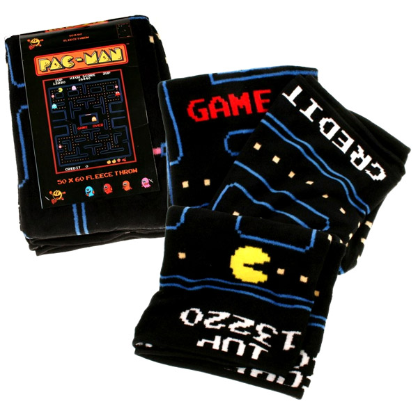 pac man fleece blanket
