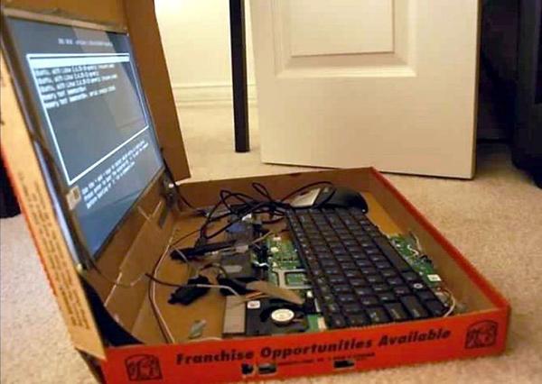 pizza box laptop