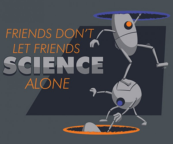 Portal Co-Op Science T-Shirt Warms the Heart, Boggles the Mind