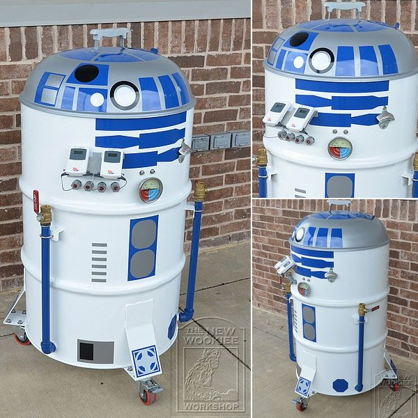 r2 d2 smoker by philip wise