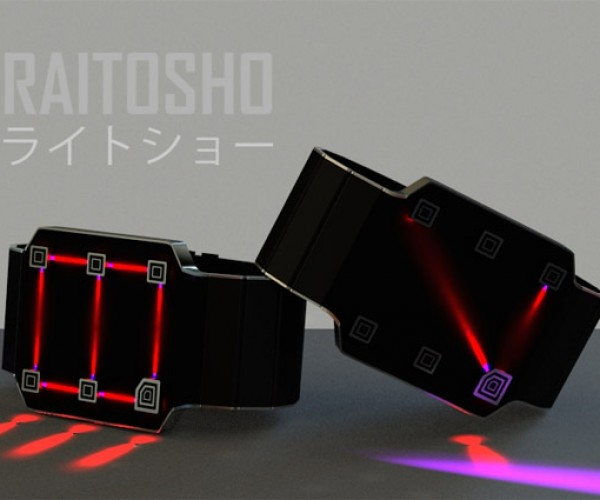 Raitosho Watch Tells Time with LED Light Beams
