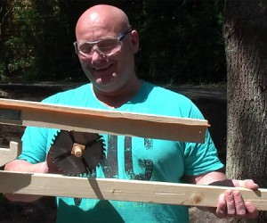 Joerg Sprave Unveils Circular Saw Blade Flinging Slingshot, Still Has His Fingers