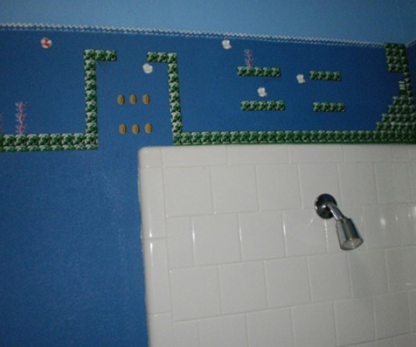 super mario bros themed bathroom by eisley 2