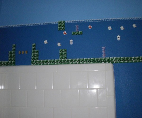 super mario bros themed bathroom by eisley 4