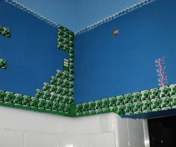 Super Mario Bros. Bathroom: Perfectly Painted Plumber