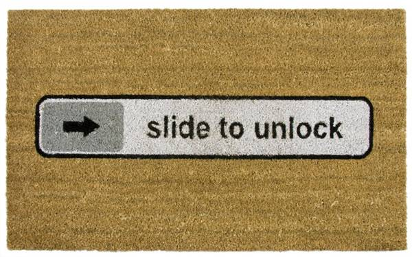 t4 FussmatteSlideToUnlock Sessuyer sur Apple / Le seul vrai Slide to unlock!