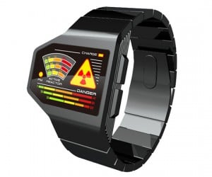Tokyoflash Radiation Level LED Watch Concept: Post-Apocalyptic Timepiece