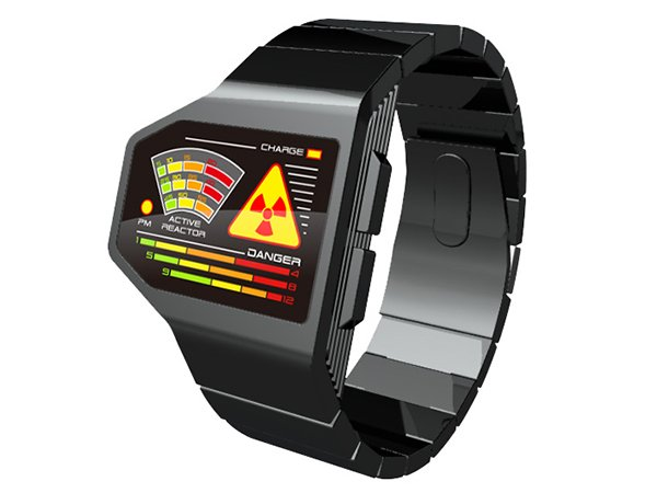 tokyoflash radiation level led concept watch by yamada