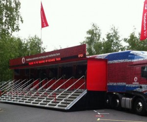 Vodafone 18-Wheeler Charges Smartphones
