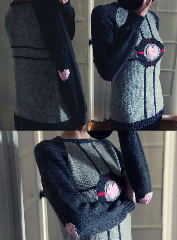 weighted companion cube sweater by monday 2