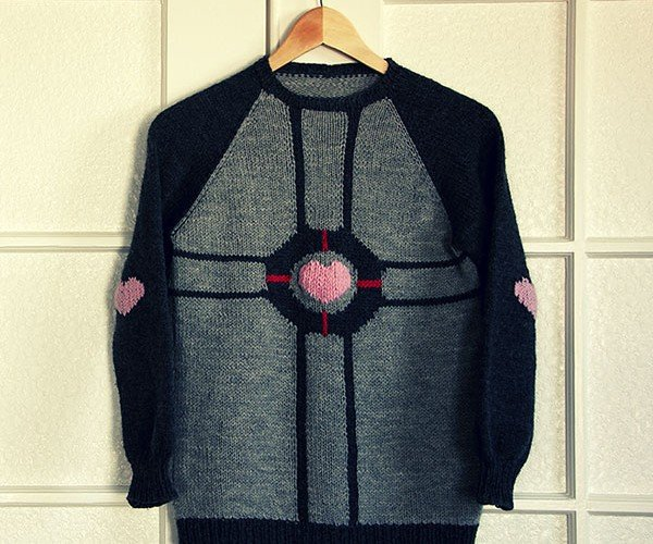 Weighted Companion Cube Sweater Can Accompany You Through the Rest of the Test