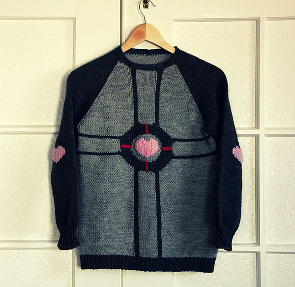 weighted companion cube sweater by monday