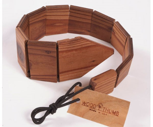Wood Neck Tie Perfect for Lumberjacks in Business Suits
