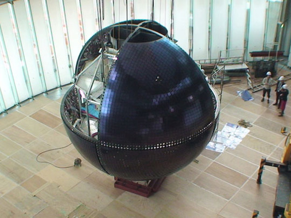 mitsubishi geo cosmos globe oled display japan