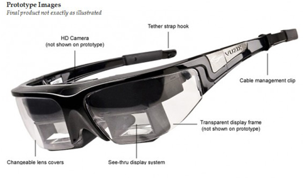 vuzix 1200 star augmented reality glasses